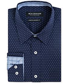 Nick Graham Men's Slim-Fit Dot-Print Shirt
