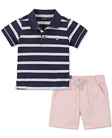 Nautica Baby Boys 2-Pc. Polo Shirt & Shorts Set