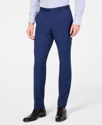Men's Slim-Fit Stepweave Suit Pants