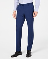 a10d0fe91d03 HUGO by Hugo Boss Men s Slim-Fit Stepweave Suit Pants