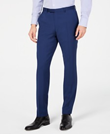 HUGO by Hugo Boss Men's Slim-Fit Stepweave Suit Pants