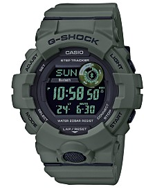 G-Shock Men's Digital Olive Green Resin Strap Watch 48.6mm