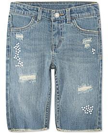 Levi's® Little Girls Distressed Denim Bermuda Shorts