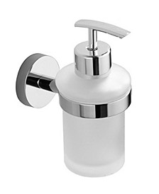 General Hotel Chrome Wall-Mounted Frosted Glass Soap Dispenser