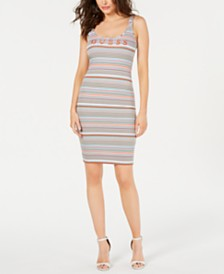 GUESS Originals Striped Bodycon Dress