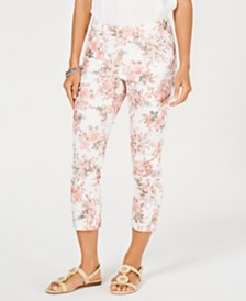 Charter Club Delicate Bouquet Bristol Capri Jeans, Created for Macy's