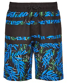 Ideology Little Boys Palm-Print Swim Trunks, Created for Macy's