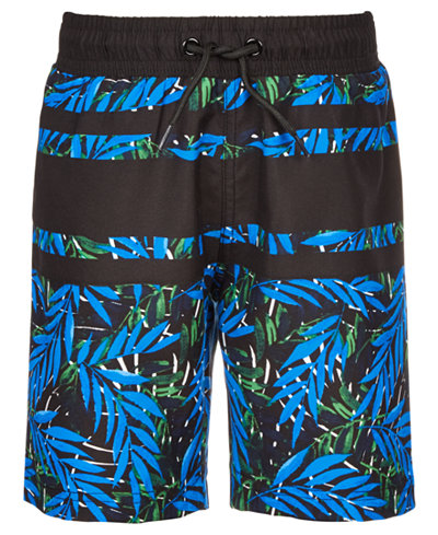 Ideology Toddler Boys Palm-Print Swim Trunks, Created for Macy's