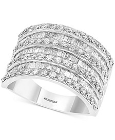 EFFY® Diamond Baguette Statement Ring (1-1/2 ct. t.w.) in 14k White Gold