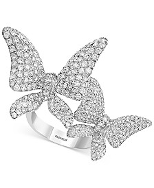 EFFY® Diamond Pavé Butterfly Ring (2-1/6 ct. t.w.) in 14k White Gold