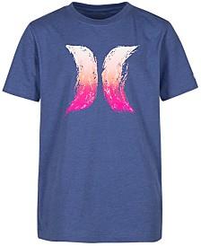 Hurley Big Boys Splash Logo Cotton T-Shirt