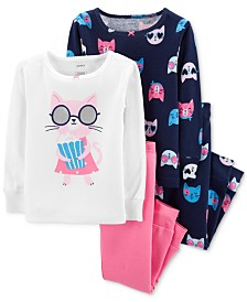 Carter's Toddler Girls 4-Pc. Cotton Pajamas Set