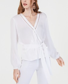 I.N.C. Gauze Wrap Top, Created for Macy's