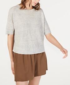 Eileen Fisher Organic Linen Round-Neck Sweater