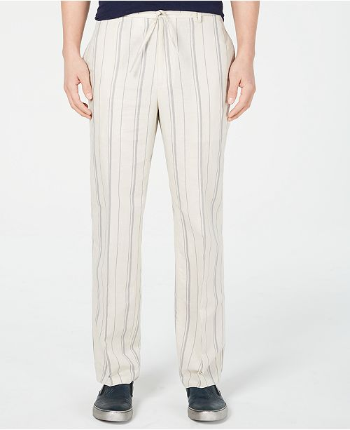 INC International Concepts I.N.C. Men's Regular-Fit Stripe Drawstring Pants, Created for Macy's