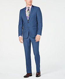 Van Heusen Men's Slim-Fit Flex Stretch Wrinkle-Resistant Blue Pinstripe Suit