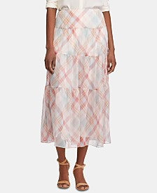 Lauren Ralph Lauren Tiered Peasant Skirt
