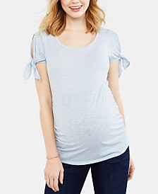 Motherhood Maternity Cold-Shoulder T-Shirt