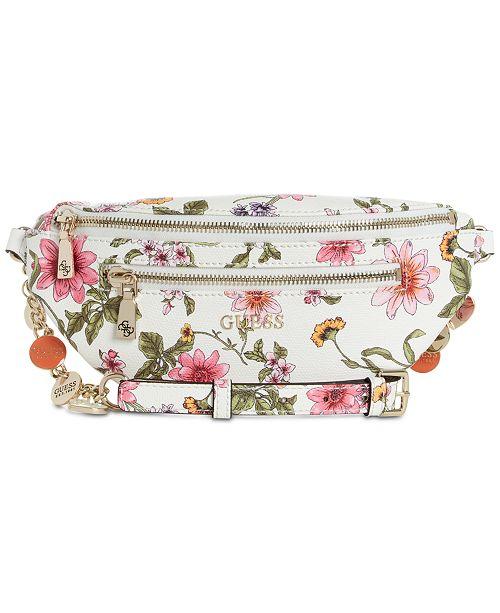 fe18701576a GUESS Detail Floral Belt Bag & Reviews - Handbags & Accessories ...