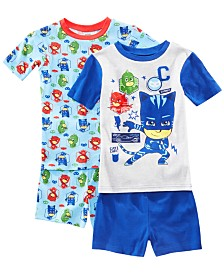 AME Little & Big Boys 2-Pack PJ Masks Graphic Cotton Pajamas