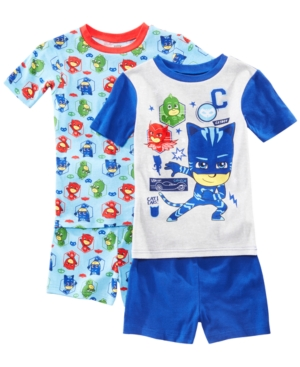 Image of Ame Little & Big Boys 2-Pack Pj Masks Graphic Cotton Pajamas