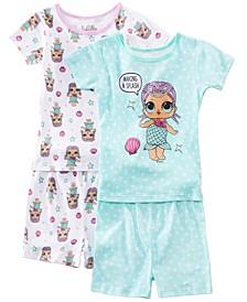 Little & Big 2-Pack Girls LOL Surprise Graphic Cotton Pajamas