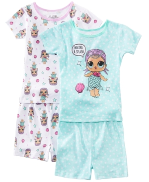 Image of Ame Little & Big 2-Pack Girls Lol Surprise Graphic Cotton Pajamas