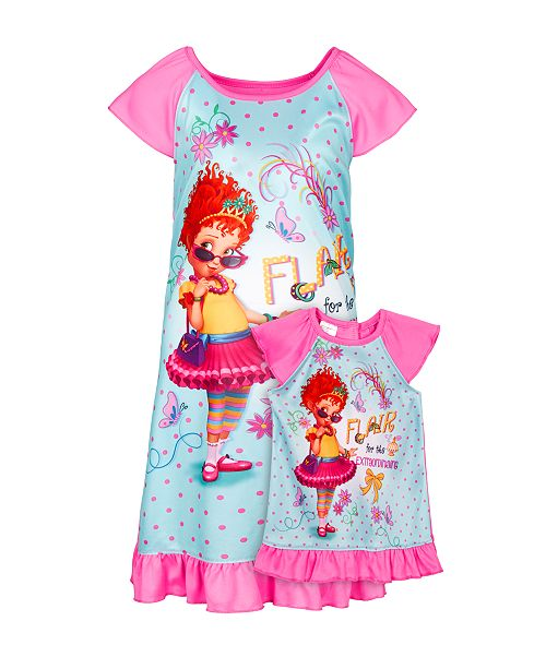 AME Little & Big Girls 2-Pc. Fancy Nancy Nightgown & Doll Nightgown Set