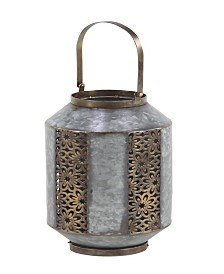 Rosemary Lane Rustic Metal Candle Lantern