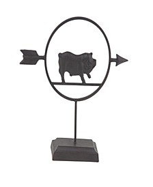 Farmhouse Metal Pig Table Decor