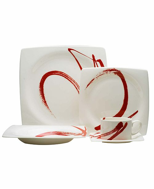 Red Vanilla Paint It 5 Piece Place Setting