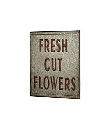 Rosemary Lane Farmhouse Fresh Cut Flowers Plate Wall Decor