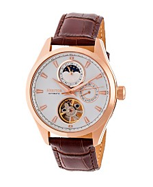 Heritor Automatic Sebastian Genuine Leather Watch 40mm