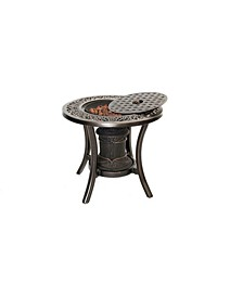 "10,000 BTU Fire Pit Side Table - 20.78"" x 21.01"" x 14.11"""