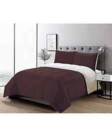 3 Piece Micromink Comforter Set, Full/Queen