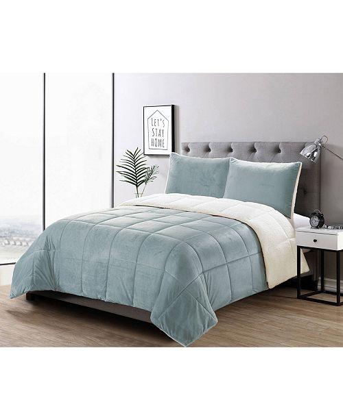 Welcome Industrial 3 Piece Micromink Comforter Set, Full/Queen