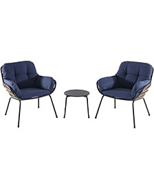 "Naya 3-Piece Chat Set with Cushions - 30.51"" x 29.33"" x 47.5"""