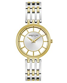 Ladies' Two Tone Bracelet with Transparent Dial, 34MM