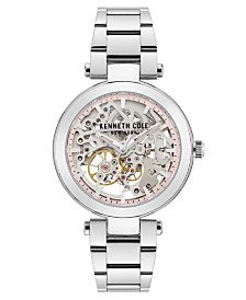 Kenneth Cole New York Ladies' Stainless Steel Bracelet with Skeleton Automatic Dial, 38MM