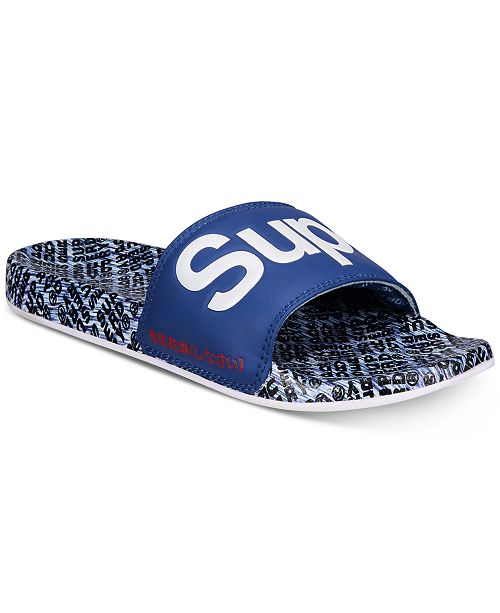 4742e995 Superdry Men's Allover Print Beach Slide Sandals & Reviews - All ...
