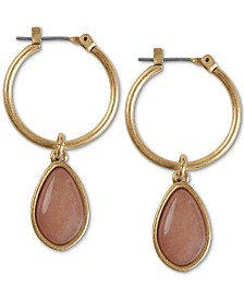Lucky Brand Gold-Tone Reversible Stone Drop Earrings