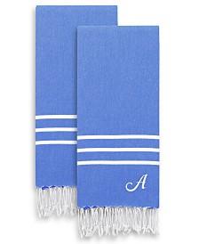 Linum Home Personalized Alara Turkish Pestemal 2-Pc. Hand Towel Set