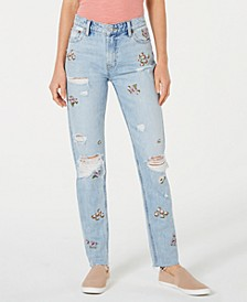 Sienna Embellished Ripped Slim Boyfriend Jeans