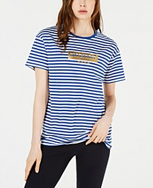Striped Cotton Graphic T-Shirt
