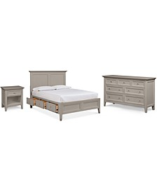 Sanibel Storage Bedroom 3-Pc. Set (Full Bed, Nightstand, and Dresser), Created for Macy's