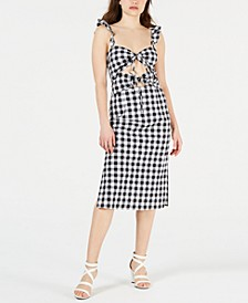 Cutout Gingham Midi Dress