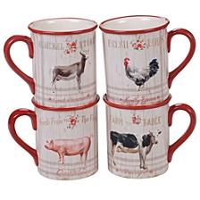 Farmhouse Mugs, Set of 4