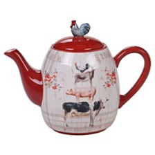 Certified International Farmhouse Teapot