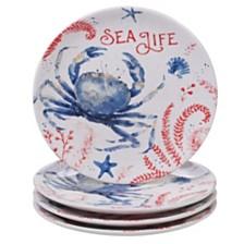 Certified International Nautical 4pc Dessert Plate