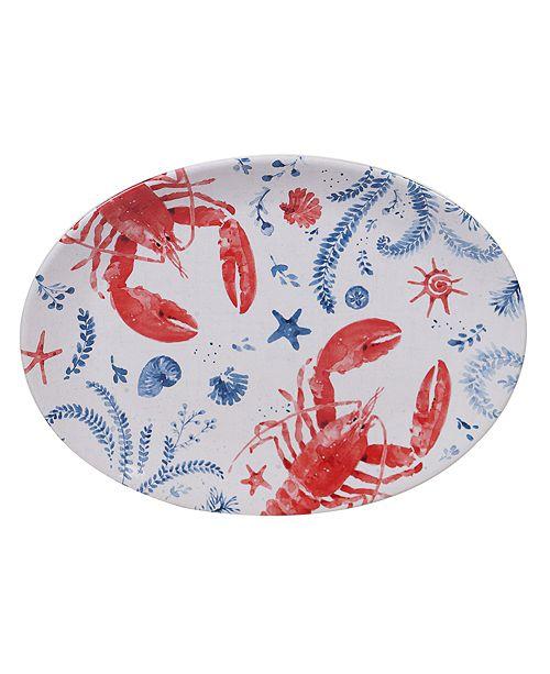 Certified International Nautical Oval Platter